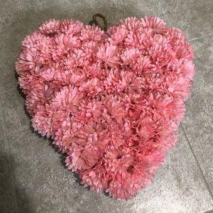 Heart Faux Floral Wreath